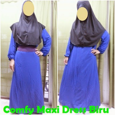 Colourful Comfy Maxi Dress JS1364 - Biru