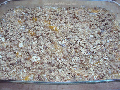 3-ingredient Peach Cobbler, flourmewithlove.com