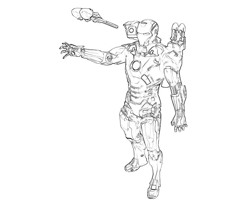 Printable Marvel Ultimate Alliance 2 Iron Man Ability Coloring Pages title=
