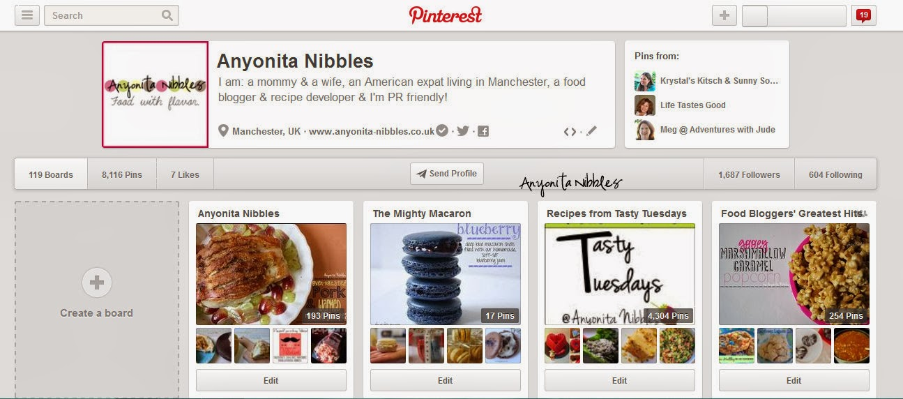 Embed Pinterest Boards into Blog Posts Step 1
