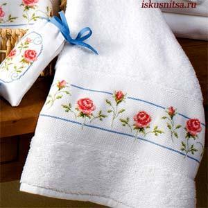Вышить полотенце своими руками