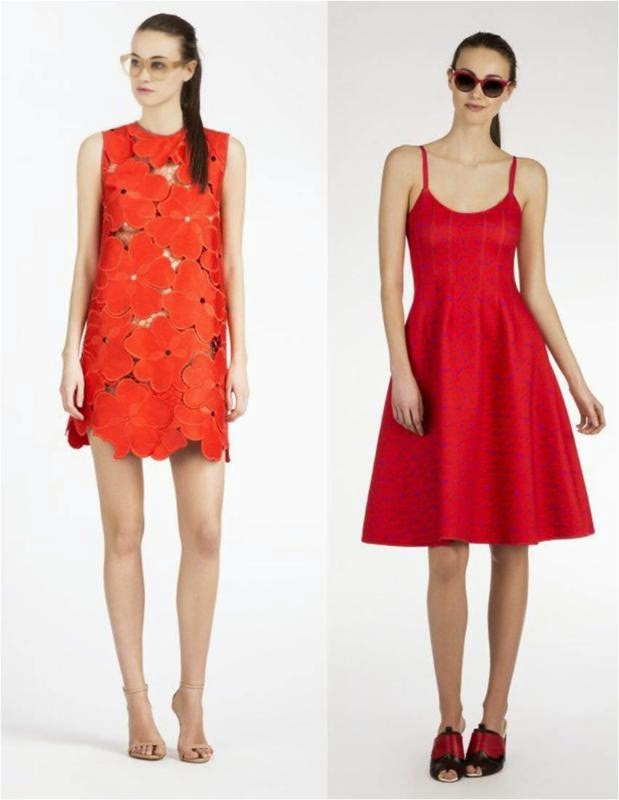 Floral Lace Shift Dress & Bonded Seamed Dress