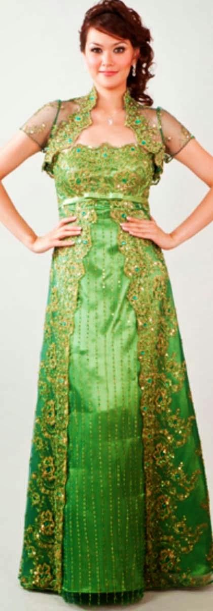 Indonesia woman national dress kebaya is indonesian
