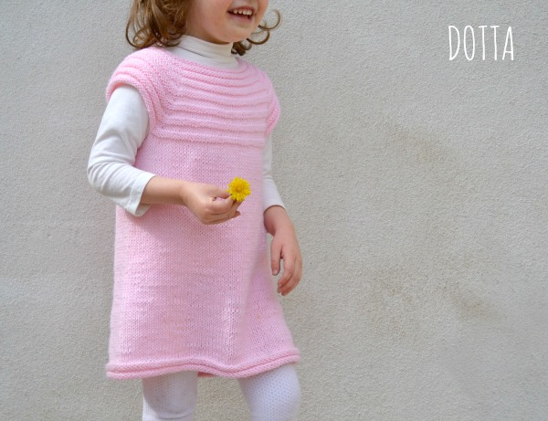 Little Sister's Dress knitted by Dotta