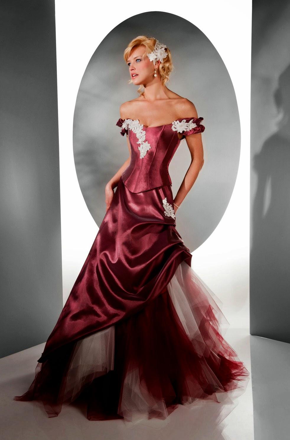 Red Corset Style Wedding Dresses Design Ideas