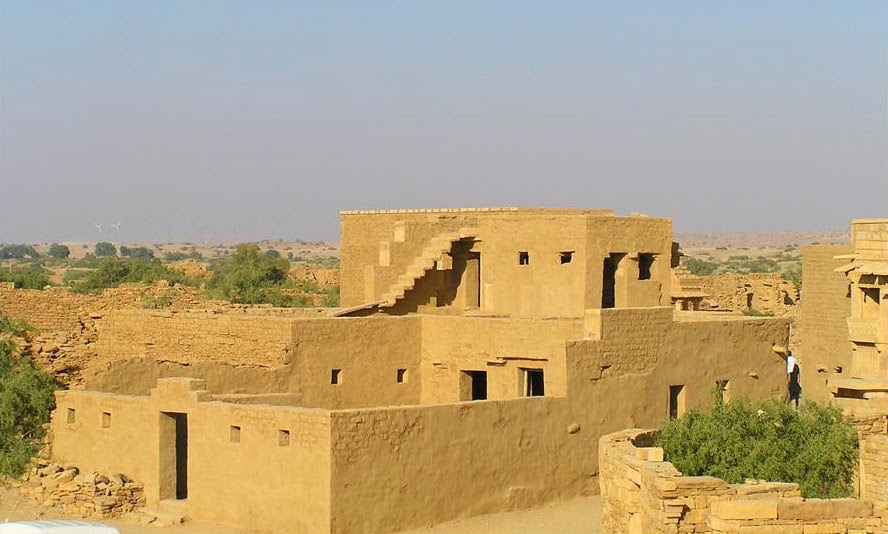 Houses renovated as they used to be in Kuldhara