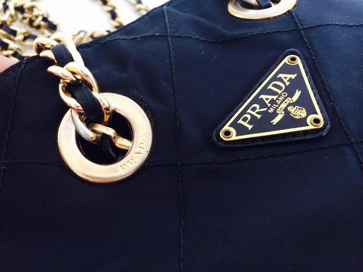 Prada Quilted Nylon Chain Bag