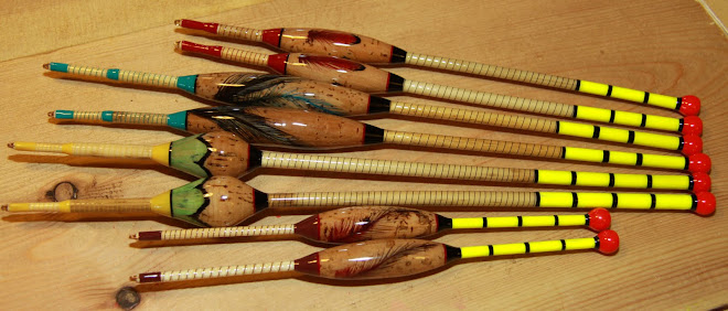 6 Reed Stem Cork Bodied Tench Drifters Plus 2 Cane Stem