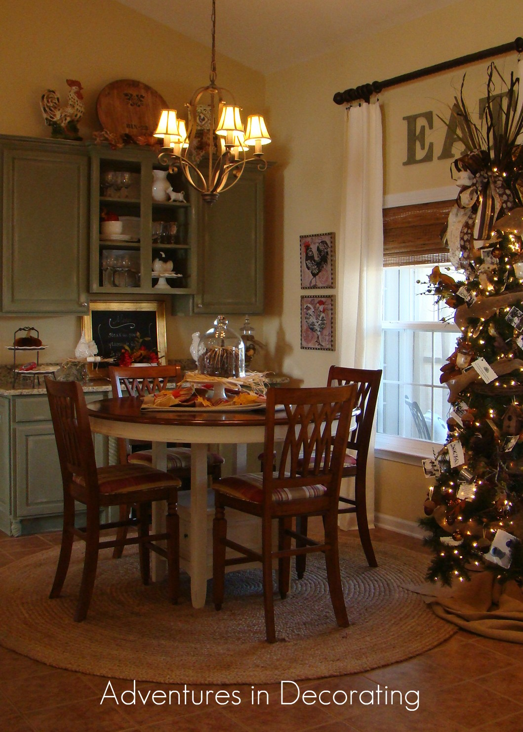 Annnd, Here It Is Today! First, Our Walls Were Painted Manchester Tan.  Then, We Added A New Farmhouse Table ... Beautiful French Country Chairs  That I ...