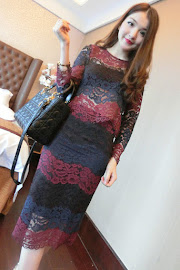Two-Piece Three-Color FLoral Lace Top and Skirt Set