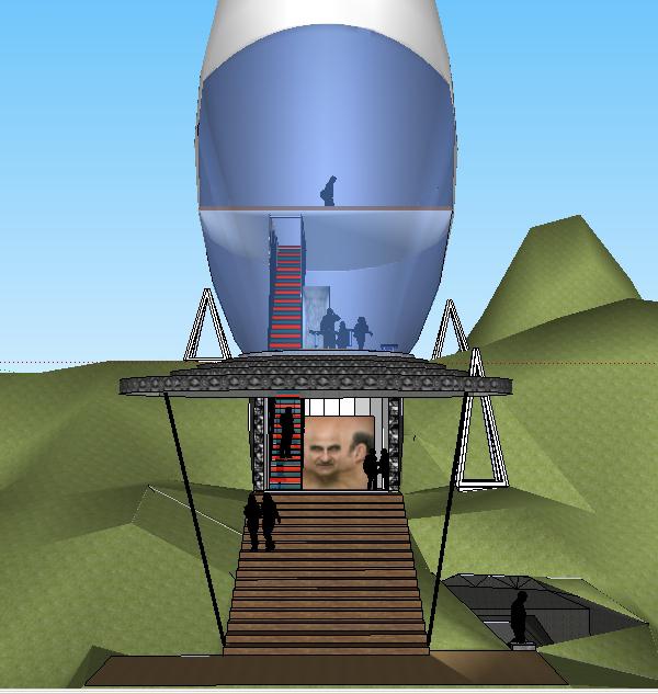 Sketchup Front Elevation : Tracey lau developed sketchup model
