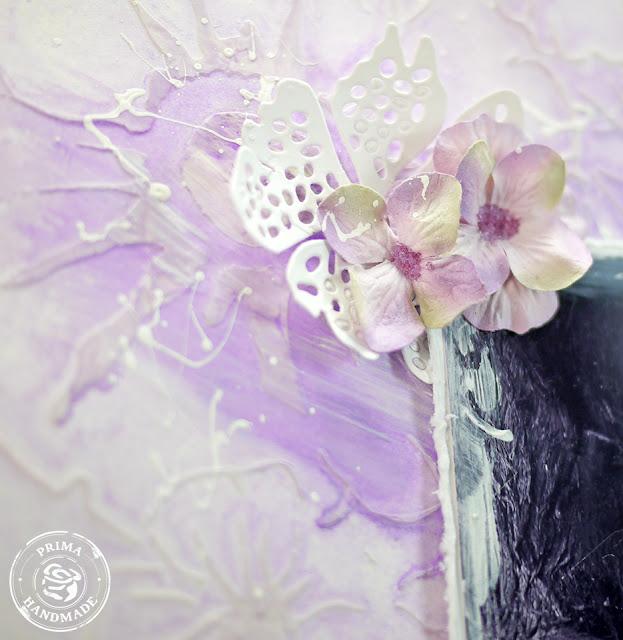 Lavender Flower Theme Room White