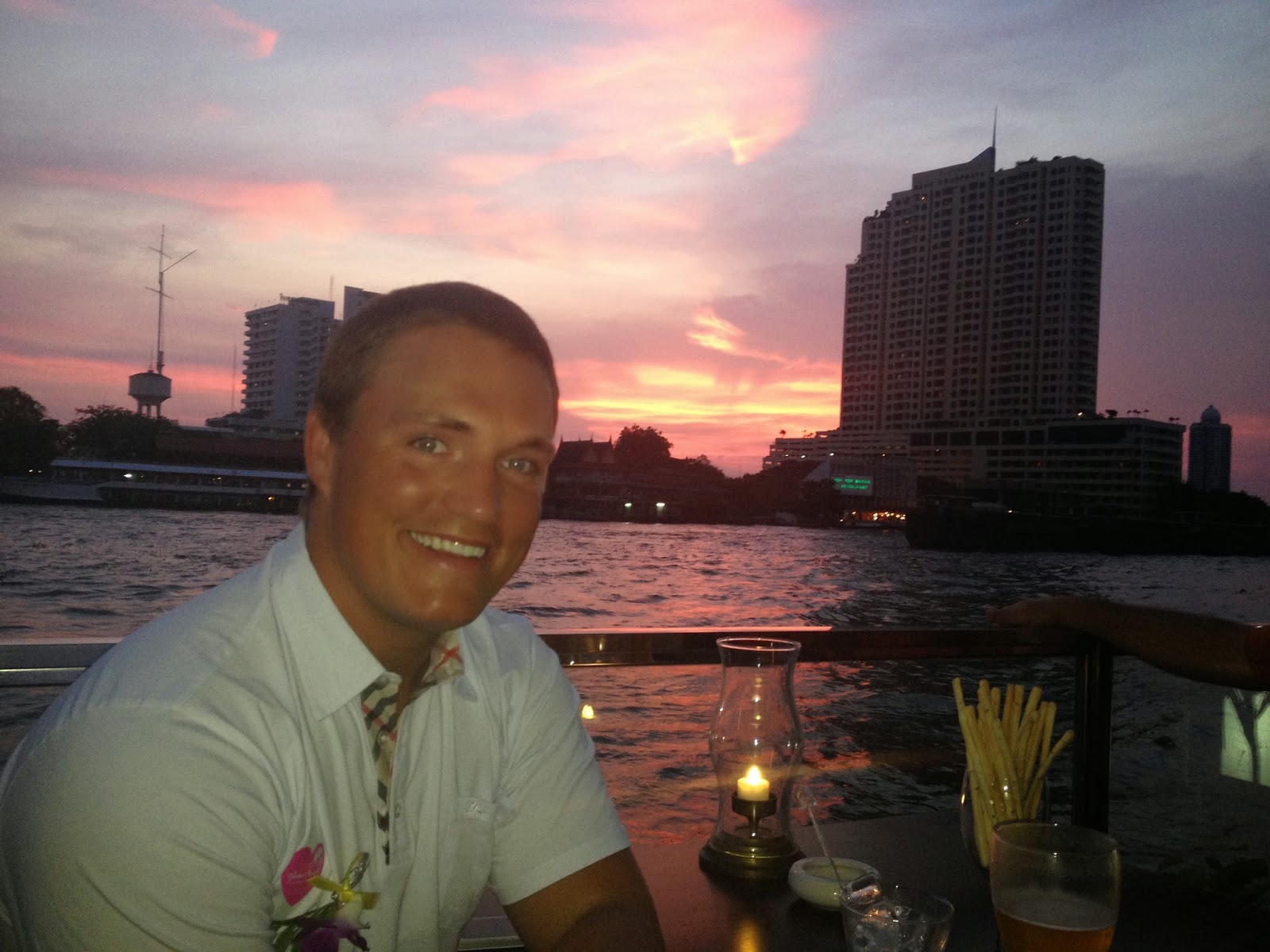 Chao Phraya Dinner Cruise Sunset