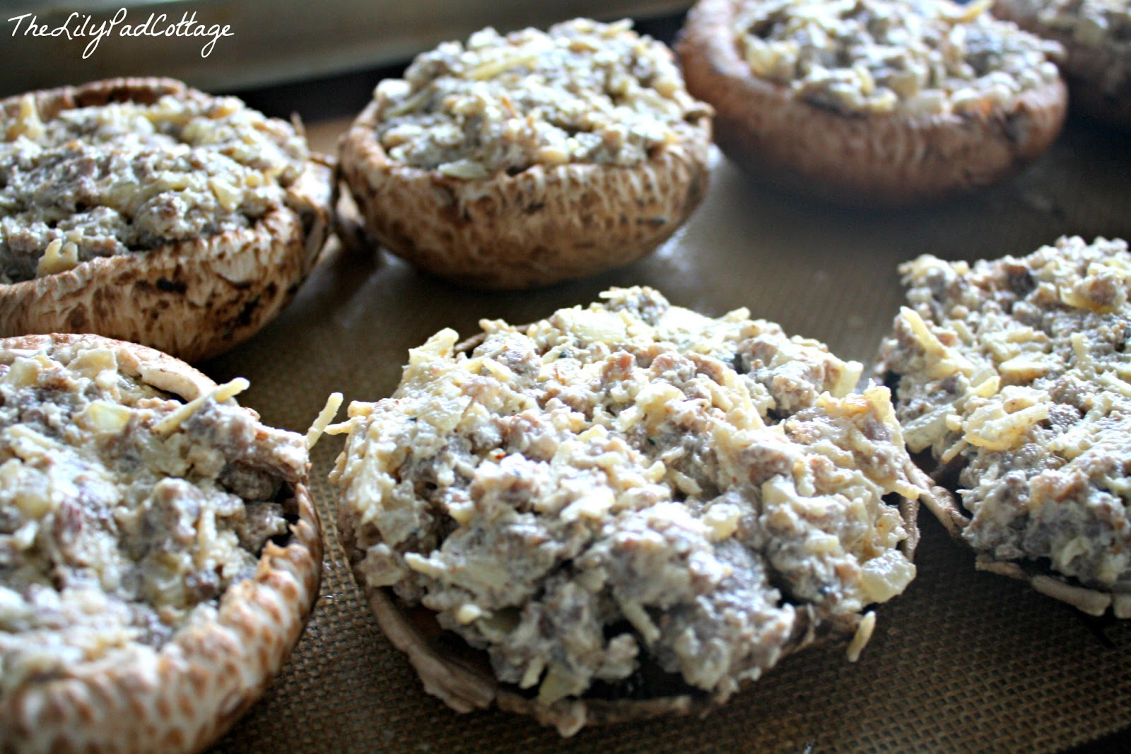 Stuffed Baby Bella Mushrooms - The Lilypad Cottage