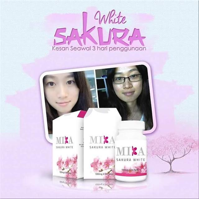 Mika Sakura White, Suplimen Terbaik Untuk Putihkan Kulit, rahsia putih seluruh badan