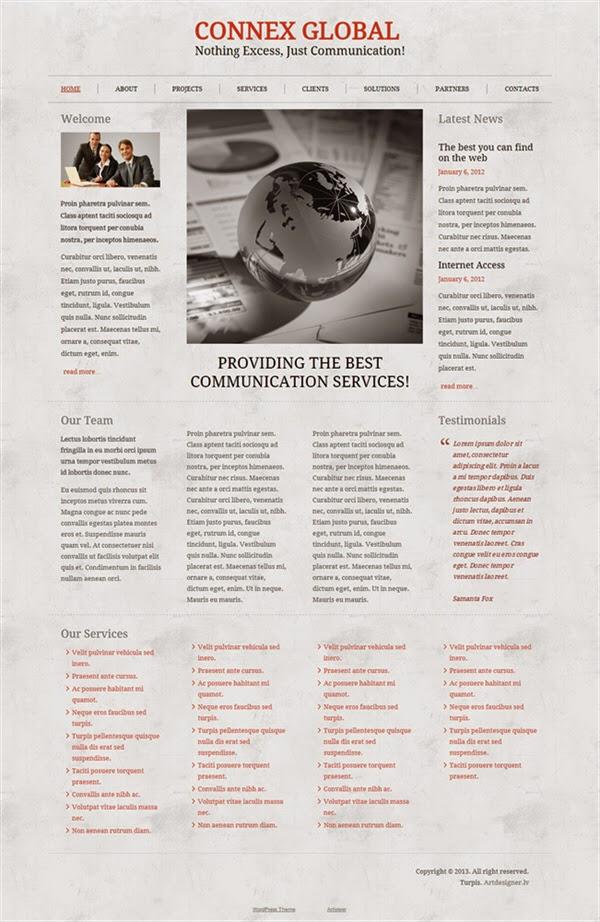 Connex Global - Free Wordpress Theme