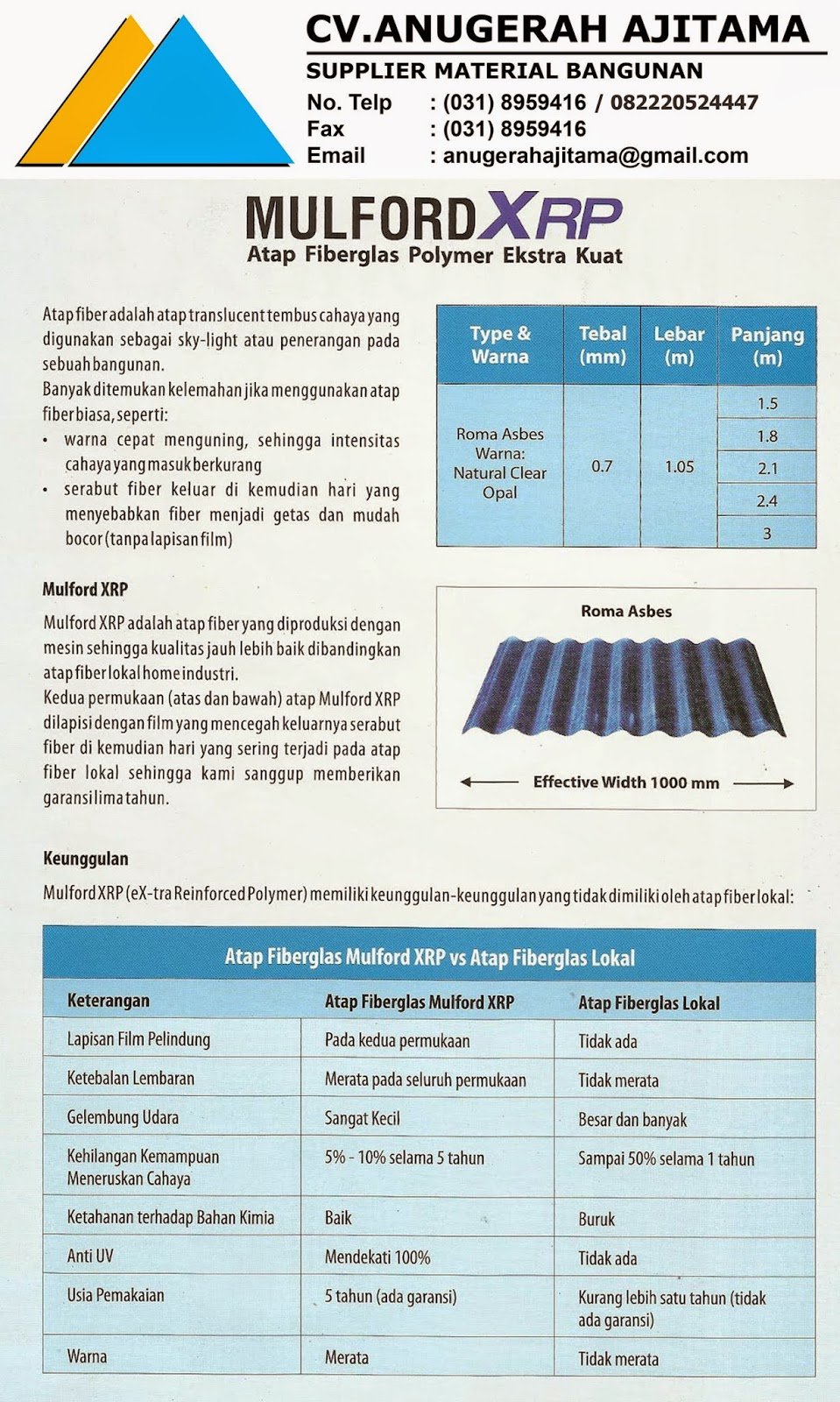 ATAP MULFORD XRP TRANSLUCENT ROOF