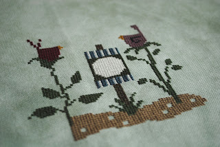 Bird Seed Cross Stitch WIP Work in Progress Just Cross Stitch, cross stitching, hand crafted