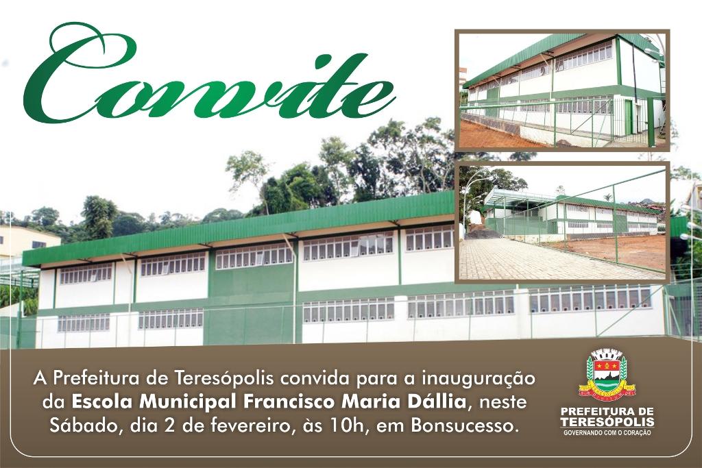 Inauguração Escola Francisco Maria Dállia em Teresópolis