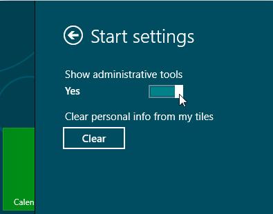 Thủ thuật Công cụ quản trị hiển thị trong Windows 8