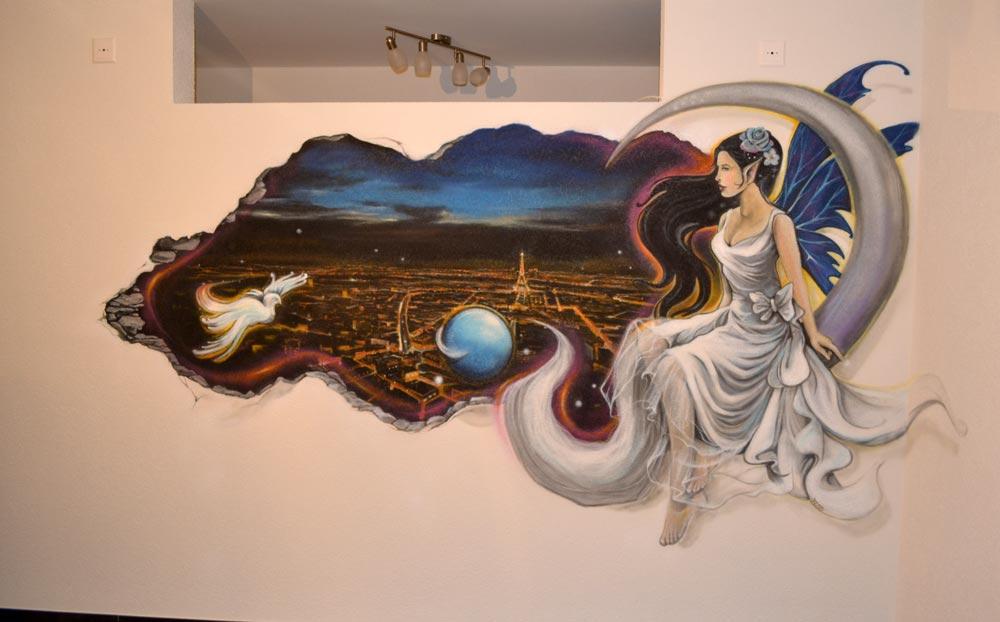 graffiti im wohnzimmer im kanton bern, Hause deko