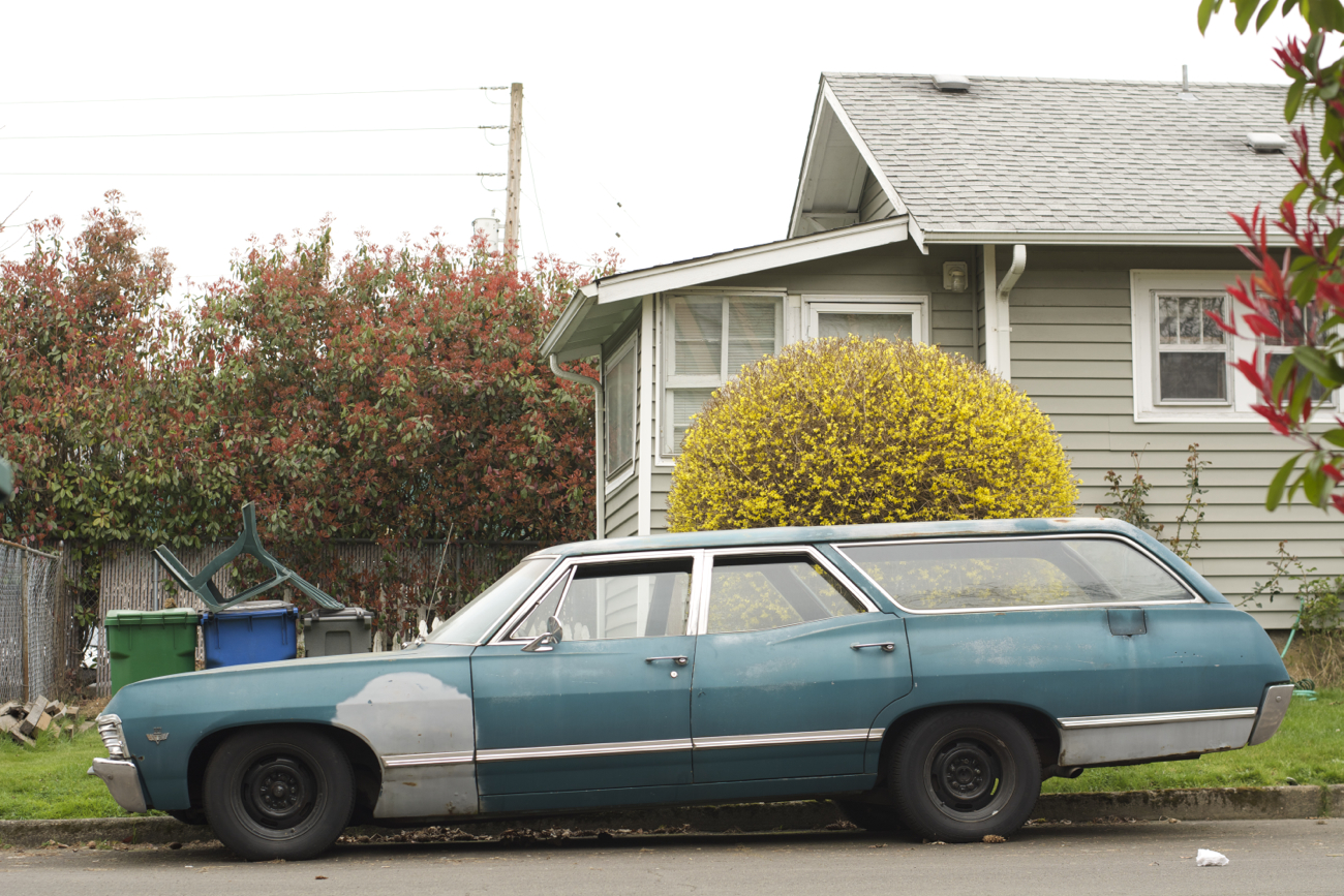 Car M Bel Len parked cars 1967 chevrolet impala wagon