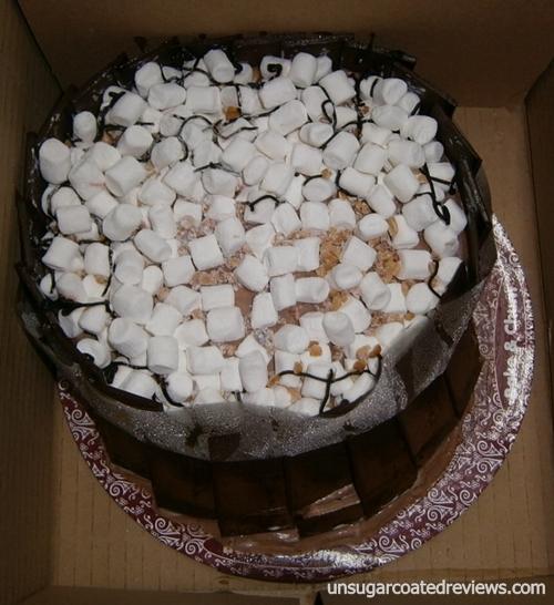 Bake and Churn rocky road ice cream cake