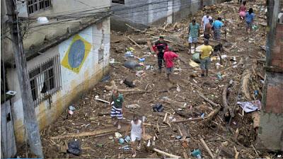 INUNDACIONES POR LLUVIAS EN RIO DE JANEIRO, ENERO 2013