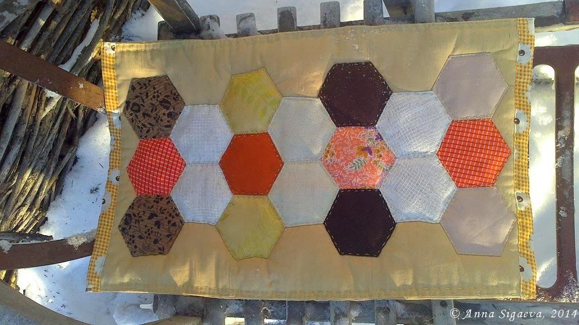 Лоскутное шитьё из шестиугольников
