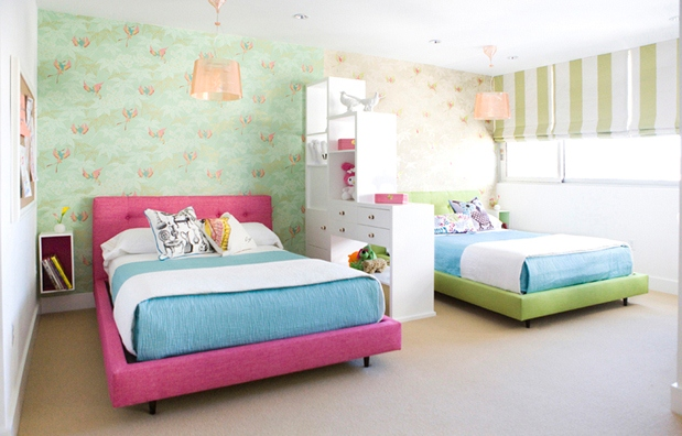 Kids 39 rooms bed options nbaynadamas furniture and for Boy girl twin bedroom ideas