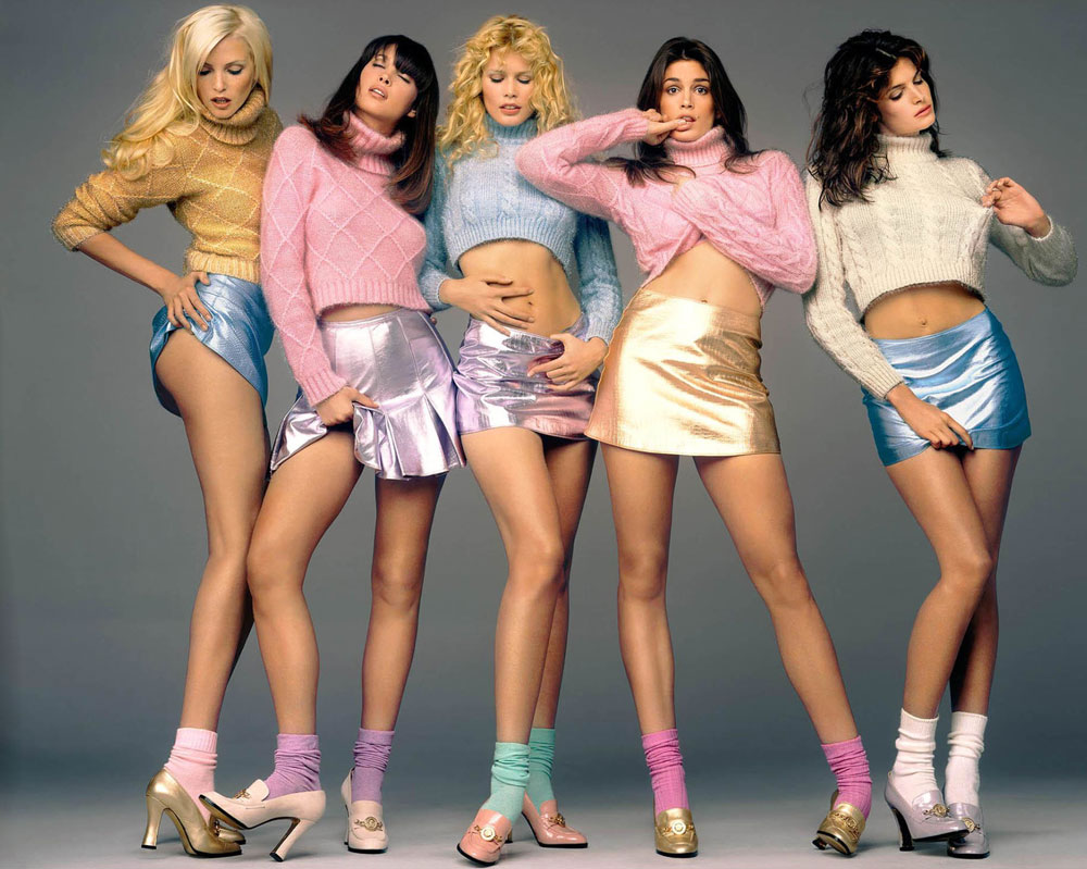 Supermodels in Versace campaign by Richard Avedon