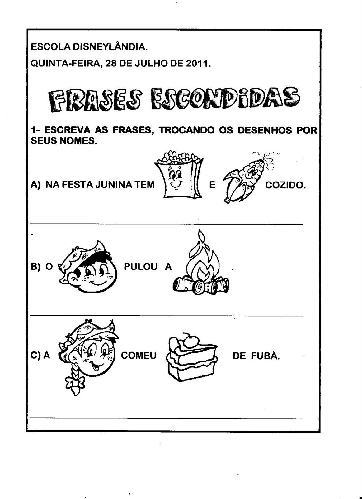 Aprendizagem Divertida Eeef Disneylândia Frases