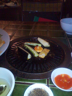 Grilled vegetables in Barbecue Garden restaurant. Ho Chi Minh City. Vietnam