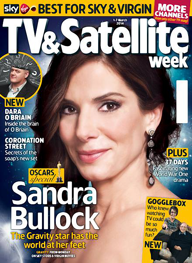 Sandra Bullock TV & Satellite Week Magazine