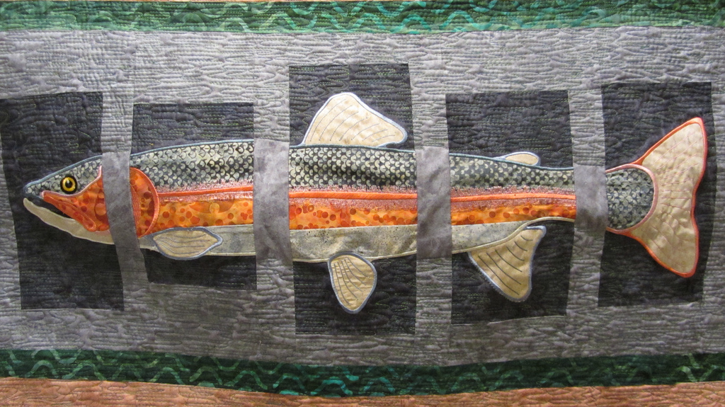 On The Mend: Gone Fishing Embroidered Applique Quilted Wallhanging : fishing quilt - Adamdwight.com