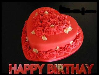 tarjetas de Cumpleaños torta roja