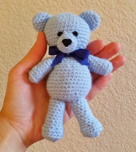 Crochet teddy bear for stillborn or disabled baby and grieving parents