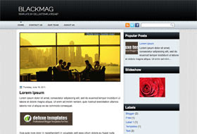 BlackMag Blogger Template