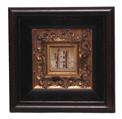 disctinct antique style wooden picture frame. Black Bedroom Furniture Sets. Home Design Ideas