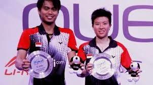 Tontowi/liliyana dan Simon Santoso Juara singapore open 2014