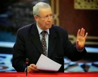 """وزير التربية الوطنية """"رشيد بلمختار"""" يغادر جلسة مجلس المستشارين"""
