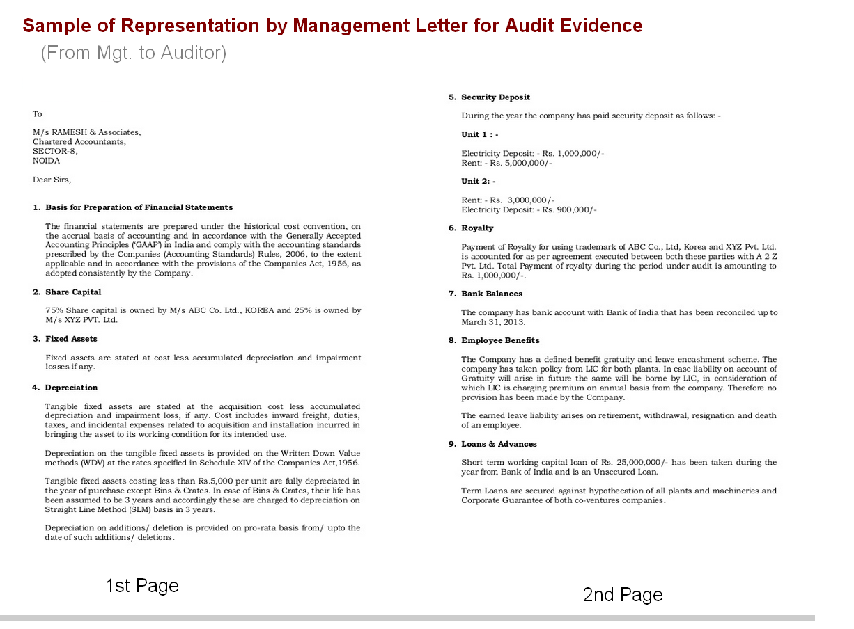 management letter In addition, the report also discloses any/all significant internal control  weaknesses noted during an audit the management letter on the other hand  contains no.