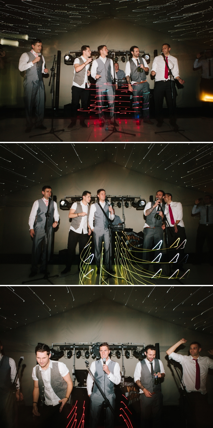 Take That performance by the groom and groomsmen photos by STUDIO 1208