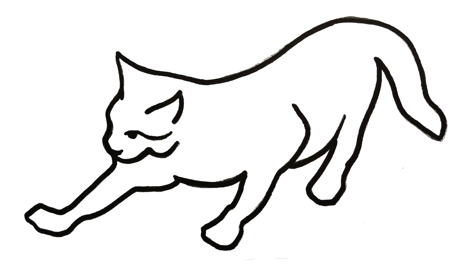 Line Art Cat : Mp illustration learning log exercise visual