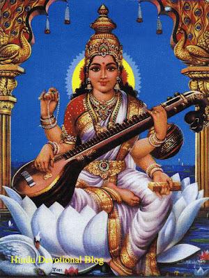 Hindu Goddess Saraswati Image