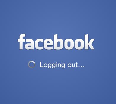 logout facebook