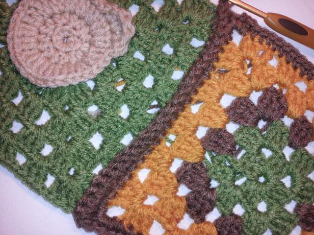 Owl Granny Square Crochet Afghan
