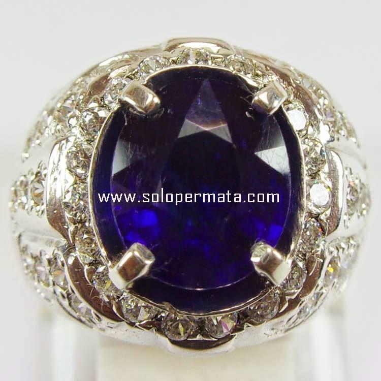 Cincin Batu Permata Royal Blue Sapphire