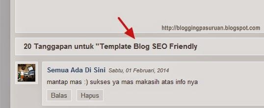 Cara Membuat Template Blog menjadi SEO Friendly