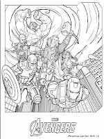 The Avenger All Star Coloring Pages